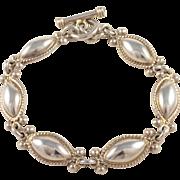 Sterling Silver Toggle Bracelet