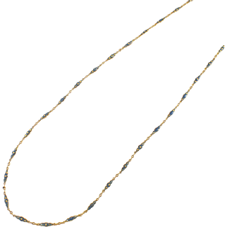 Art Deco 18k Yellow Gold Enamel Chain