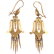 Victorian 14k Yellow Gold Earrings