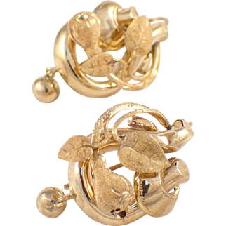 Victorian 10K Yellow Gold Earrings