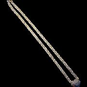 """Sunna"" 18k Yellow Gold Diamond Heart Necklace"