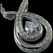 14 10 Karat White Gold Diamond Pendant