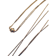 French 18k Yellow Gold Slide Chain