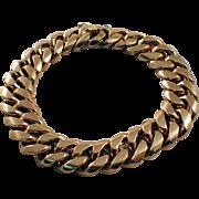 Retro Gents 18k Yellow Gold Bracelet