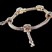 Pandora 14K Yellow Gold Charm Bracelet
