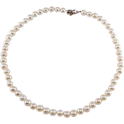 Tiffany & Co. Sterling Silver and Fresh Water Pearl Necklace