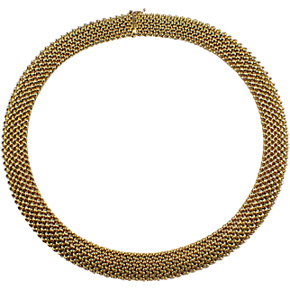 14k Yellow Gold Mesh Necklace
