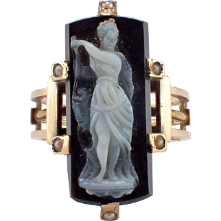 Antique 14k Yellow Gold Cameo Ring