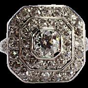 Art Deco Palladium Diamond Ring