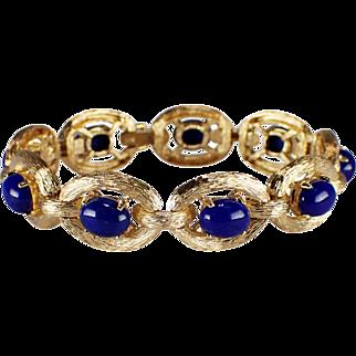14k Yellow Gold Lapis Bracelet