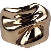 14k Yellow Gold Free Form Ring