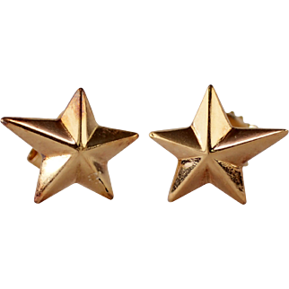 Angela Cummings 18k Yellow Gold Star Earrings