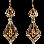Victorian 18k Yellow Gold Earrings