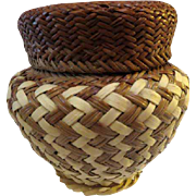 Hand Woven Tarahumara Native Mexican Basket