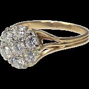 Flower Diamond 14 Karat Gold Cocktail Ring