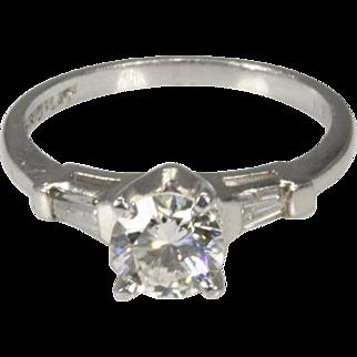 Vintage Diamond Engagement Ring .77 Carats
