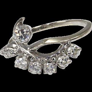 Beautiful Cocktail Diamond 14K White Gold Ring