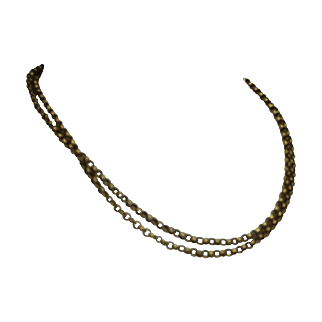 """Striking 14k Yellow Gold Double Strand Necklace 18 1/2"""""""