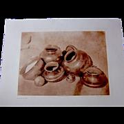 Edward S. Curtis San Juan Pottery 1905 Antique Photogravure Large Format