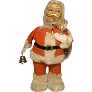 Mechanical Wind Up Santa Claus - 1940's - With The Box