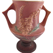 Roseville Pottery Fox Glove Vase, #161-6:, Brown, Circa 1940