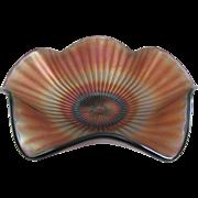 Westmoreland Smooth Rays Amethyst 8 1/2 Inch Carnival Glass