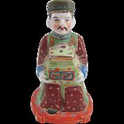 Occupied Japan Asian Man Figurine Incense Burner