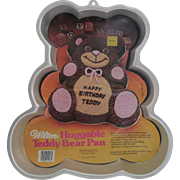 Wilton Aluminum Cake Decorating Pan - Huggable Teddy Bear - 1982