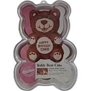 Wilton Aluminum Cake Decorating Pan - Teddy Bear Cake - 1986