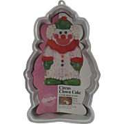 Wilton Aluminum Cake Decorating Pan - Circus Clown - 1986