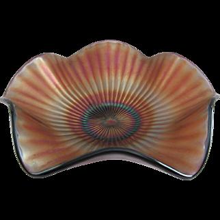 Westmoreland Smooth Rays Amethyst Carnival Glass