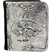 Silver Prayer Book Hallmarked Birmingham 1913 with Reynolds Angels