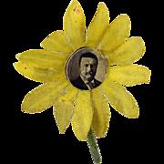 Antique Theodore Teddy Roosevelt Flower Button Hole