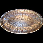 Vintage Lalique Chene Oak Leaf Oblong Platter