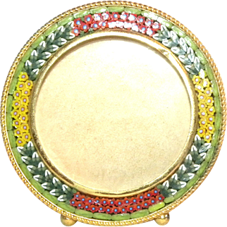 c1900 Round Miniature Italian Micro Mosaic Photo Frame