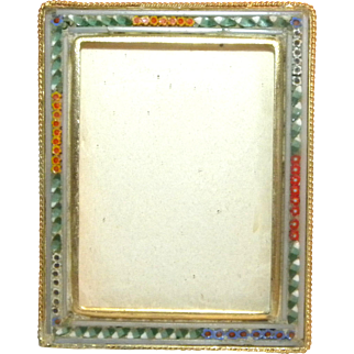 c1900 Rectangular Italian Victorian Micro Mosaic photo frame