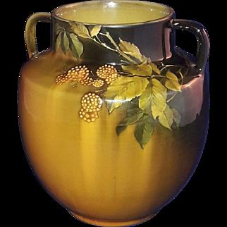 c1889 Antique Rookwood Pottery Double Handle Vase Albert Valentien