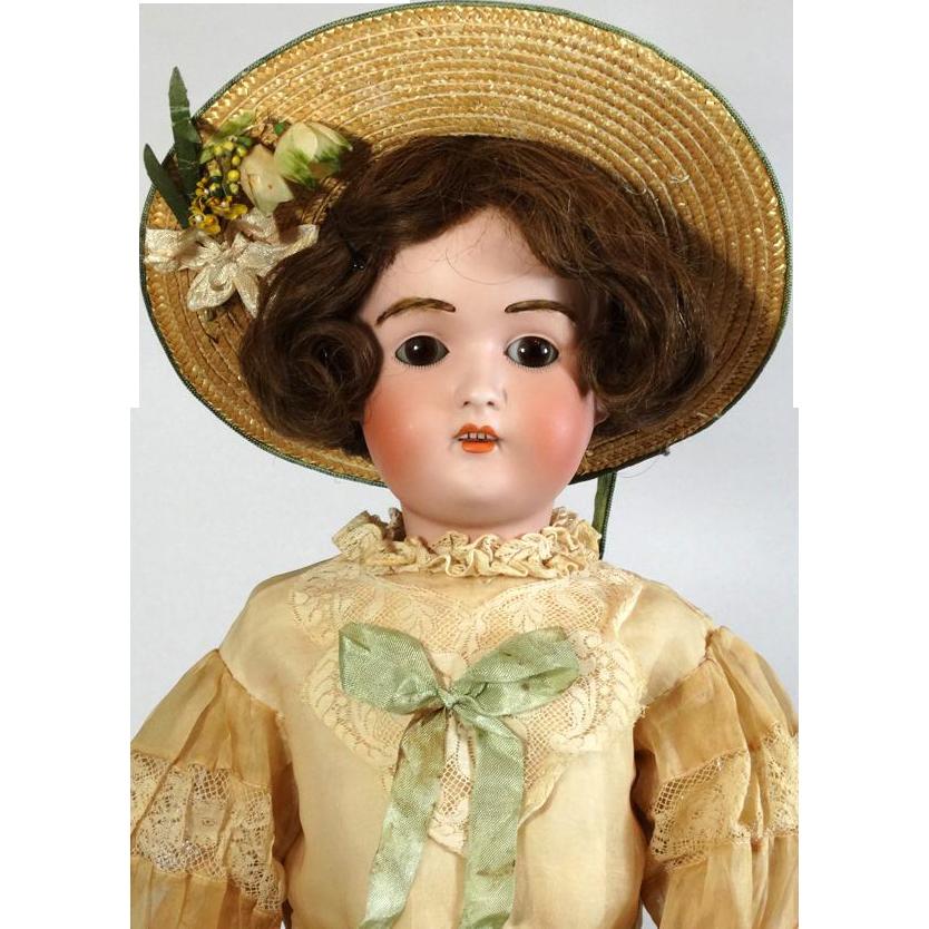 Antique German Bisque Head Doll J D Kestner 197 From