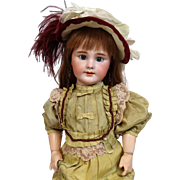 Antique French bisque head doll DEP by Jumeau