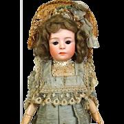 Antique German pink bisque head doll Pouty Gebruder Heubach 6969