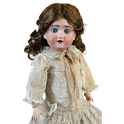 Antique German Bisque Head Doll Kley Hahn 250 Walkure
