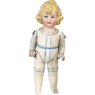 Small Antique German All Bisque Doll Hertwig