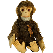 1930s-1940s German Schuco Yes/No Mohair Monkey