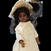 Antique German Black Bisque Head Doll Simon & Halbig S&H 1249 Santa Ethnic
