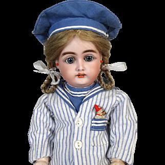 Antique German Bisque Head Doll Heinrich Handwerck HH 199