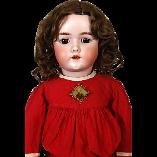 Antique German Bisque Head Doll Heinrich Handwerck HH 69