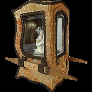 Antique French Sedan Chair Litter for Dolls