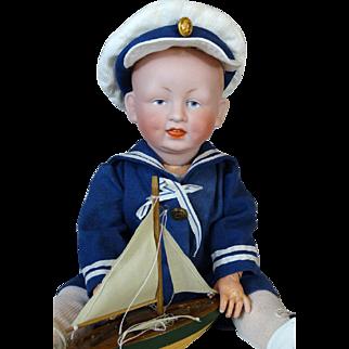 Antique German Bisque Head Doll Catterfelder Puppenfabrik CP 208