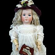 Rare Antique German Bisque Head Doll Gebruder Heubach 9567