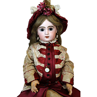 French antique German bisque head doll Jumeau 12